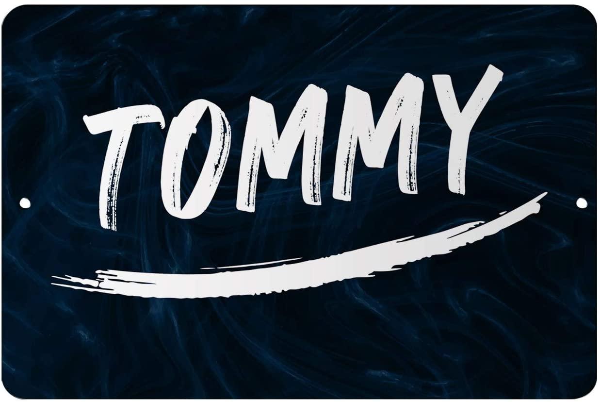 Makoroni - Tommy Male and Boy Name 12x18 inc Aluminum Decorative Wall Street Sign