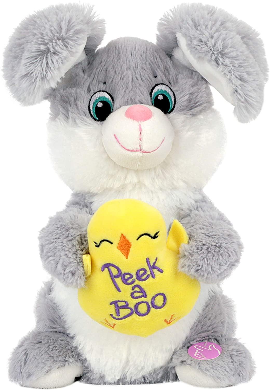 WayToCelebrate Peek-a-Boo Animated Plush Easter Bunny Rabbit