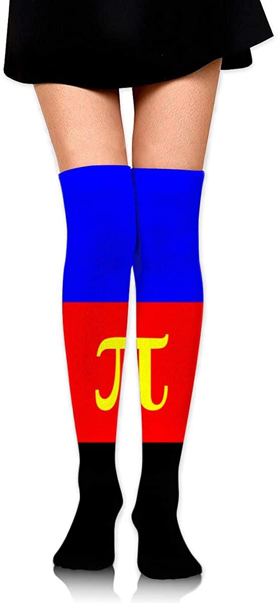 Knee High Socks Polyamory Pride Flag Womens Athletic Over Thigh Long Stockings