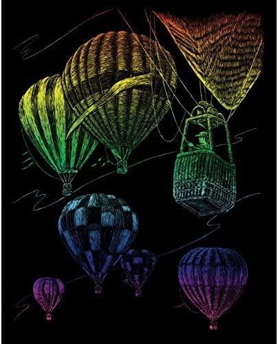 ROYAL BRUSH Rainbow Foil Engraving Art Kit, 8 by 10-Inch, Hot Air Balloons