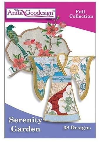 Anita Goodesign ~ Serenity Garden ~ Embroidery Designs CD