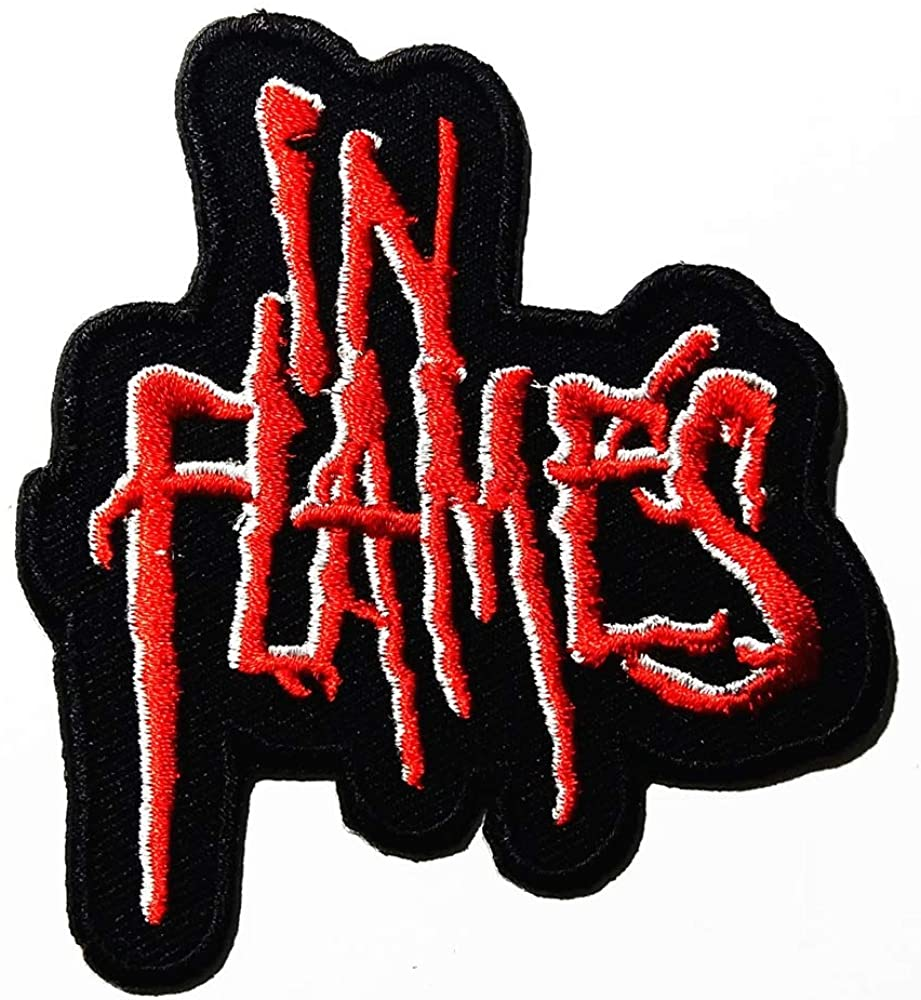 Music I Alternative Metal Flames Melodic Death Metal Heavy Metal Metalcore Music Band Logo Patch Embroidered Sew Iron On Patches Badge Bags Hat Jeans Shoes T-Shirt Applique