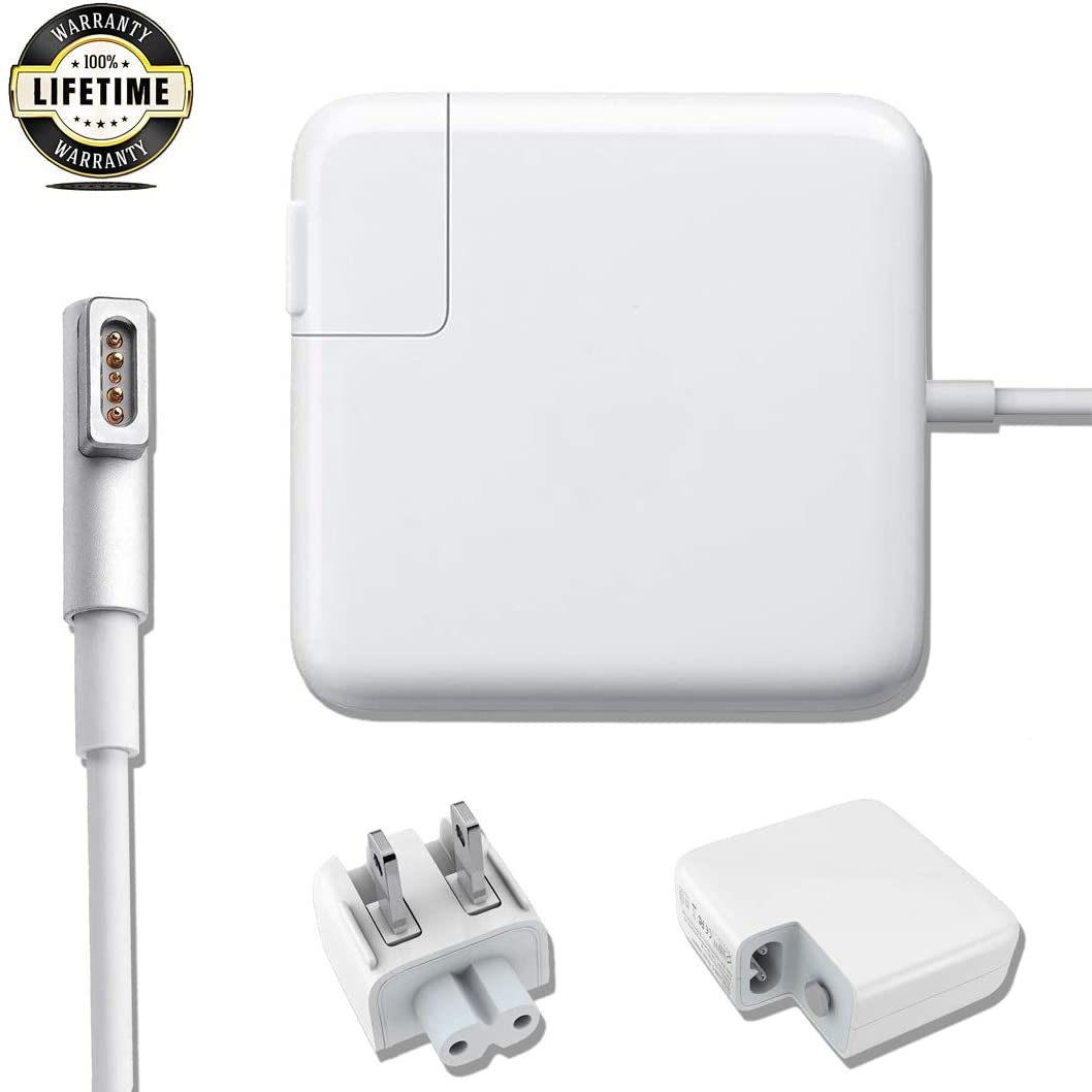 Mac Book Pro Charger, 60w AC Magsafe 1 Power Adapter Magnetic L-Tip Connector Charger for Mac Book Pro 13-inch(Before Mid 2012 Models)