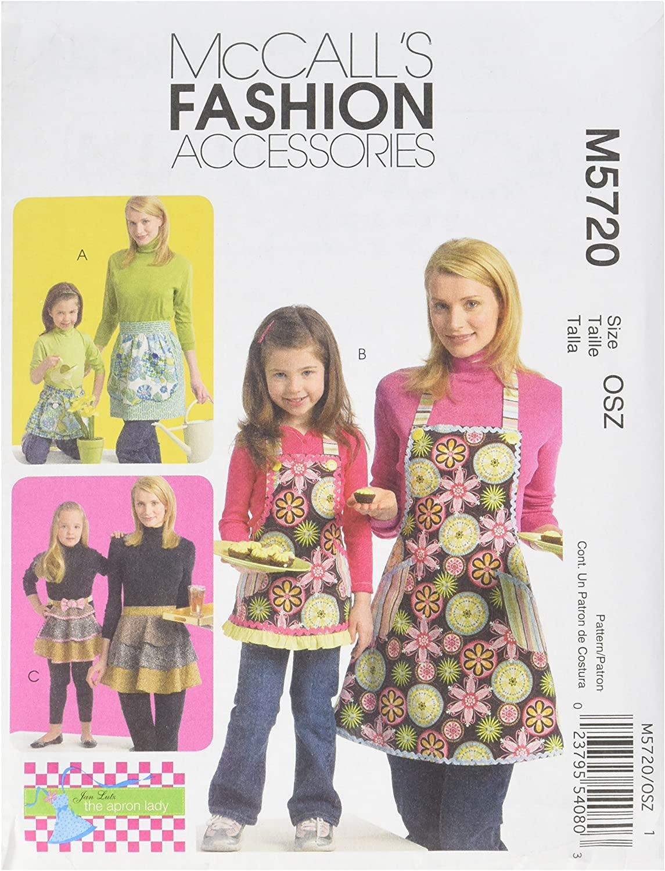 McCall's Patterns M5720 Misses'/Children's/Girls' Aprons