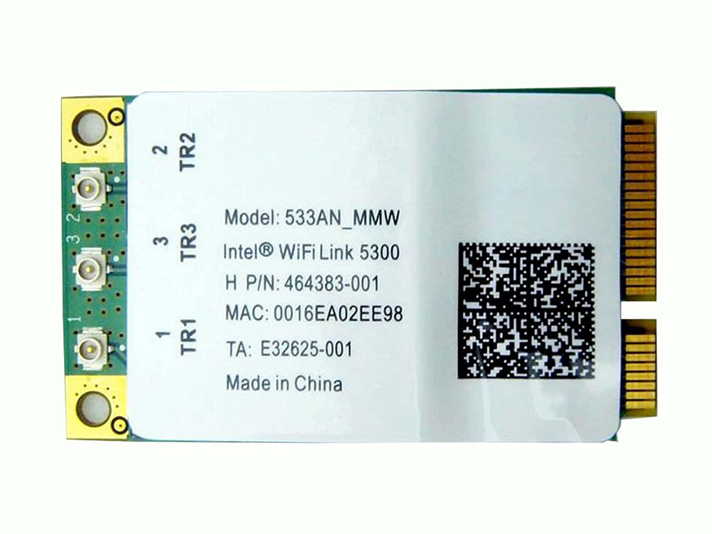 Intel Link 5300 533an_mmw Mini Pci-e Wireless Wifi Card 802.11 a B G N 480986 506679 001 for HP Laptop