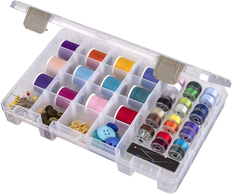 Art Bin 0365496 ArtBin Sew-Lutions Bobbin & Supply Bo x-10.75in x 7.375in x 1.75in, Each, Clear
