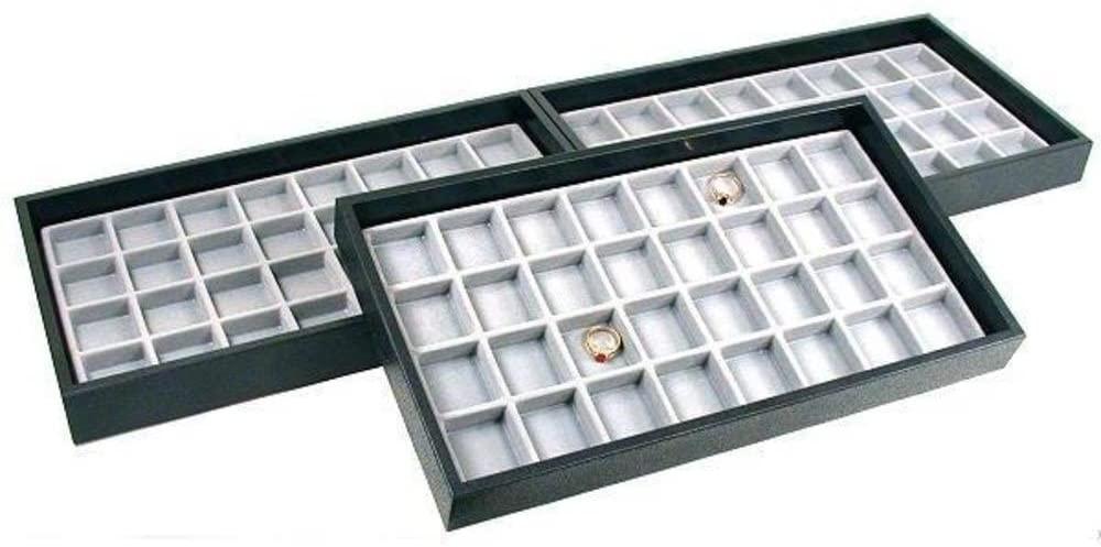 96 Slot Body Jewelry Coin Display Showcase Travel Tray