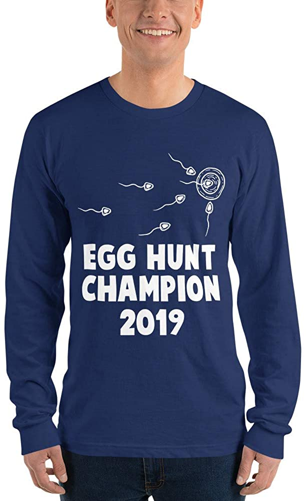 Dad Pregnancy Announcement Egg Hunt Champion 2019 Long Sleeve t-Shirt