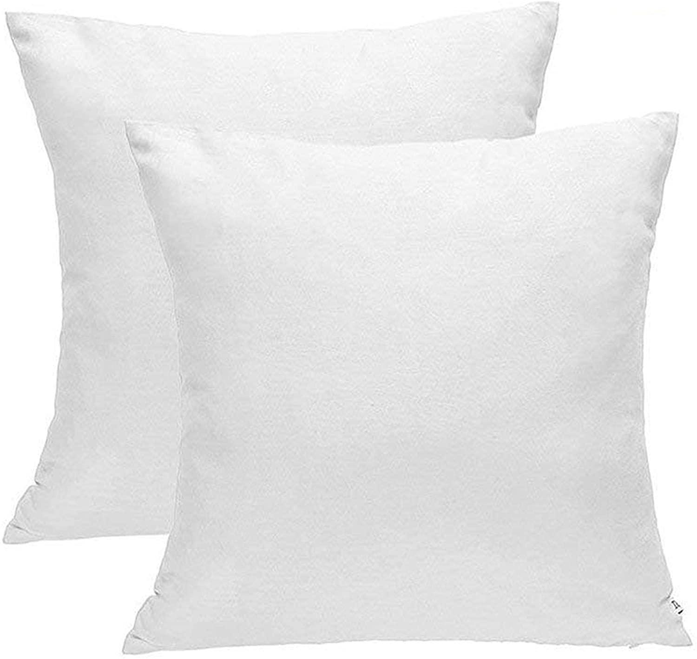 DOZZZ Set of 2 Premium Hypoallergenic Stuffer Pillow Insert Sham Square Form Cushion Polyester 18