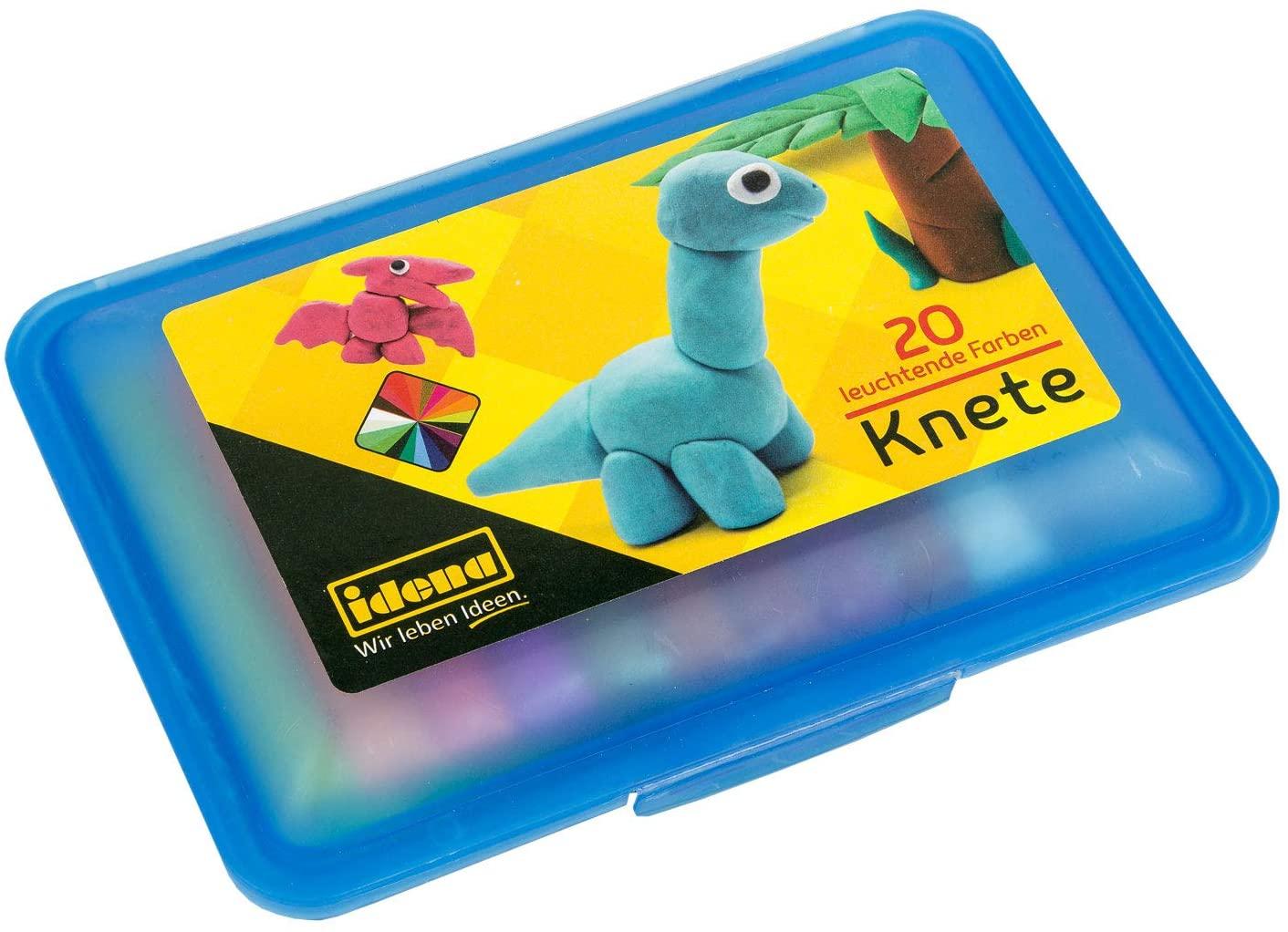 Idena 68125Dough Box of 20Bars Modelling Clay, Blue