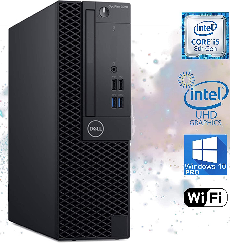 Dell Optiplex 3070 Small Form Factor Desktop Computer, Intel Core i5-8500 Upto 4.10GHz, 8GB RAM, 256GB NVMe SSD, USB 3.1, Wi-Fi, Bluetooth, DisplayPort, HDMI - Windows 10 Pro