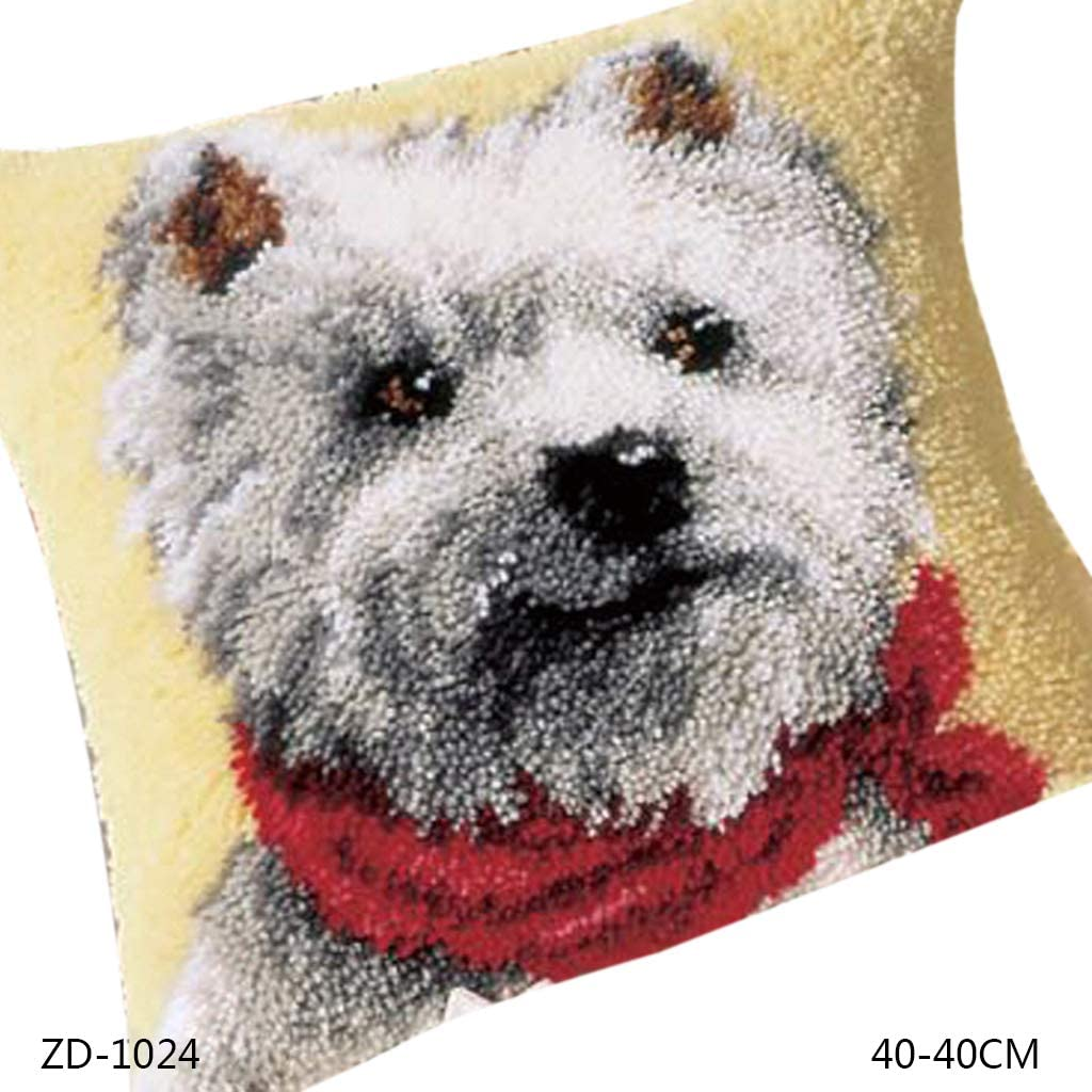 lipiny Animal Series DIY Latch Hook Rug Kit 3D Segment Embroidery Pillow Wool Cross Stitch Carpet Set for Indoor Outdoor School Office Kitchen Home