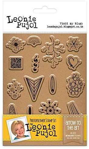 Leonie Pujol Photopolymer A6 Stamp - Arrow to The Art, 21 x 11.5 x 0.4 cm, Clear
