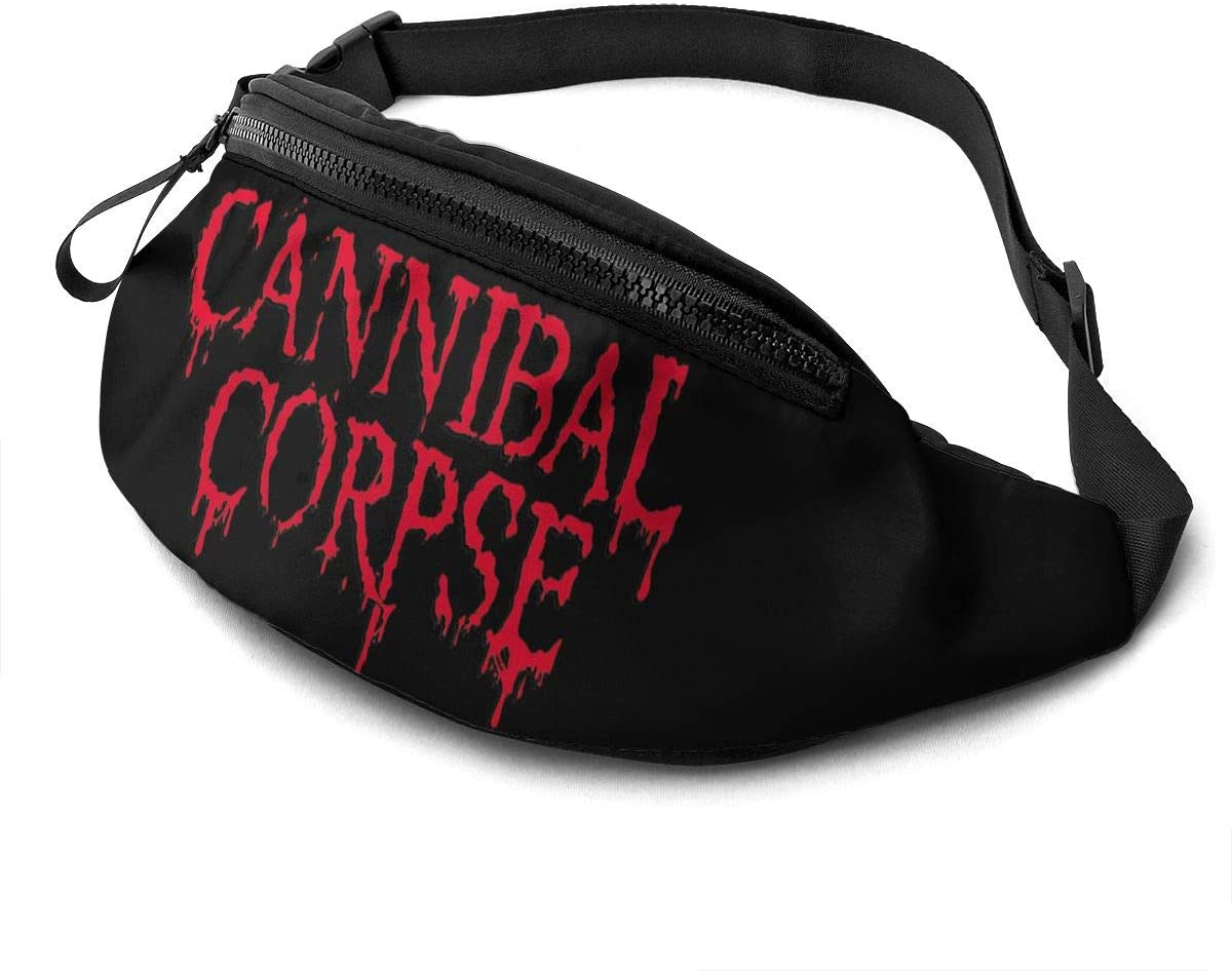 Qwtykeertyi Cannibal Corpse Waist Pack Bag Fanny Pack for Men and Women Water Resistant Outdoor Exercise Travel Jogging Hiking Waterproof Flexible and Soft