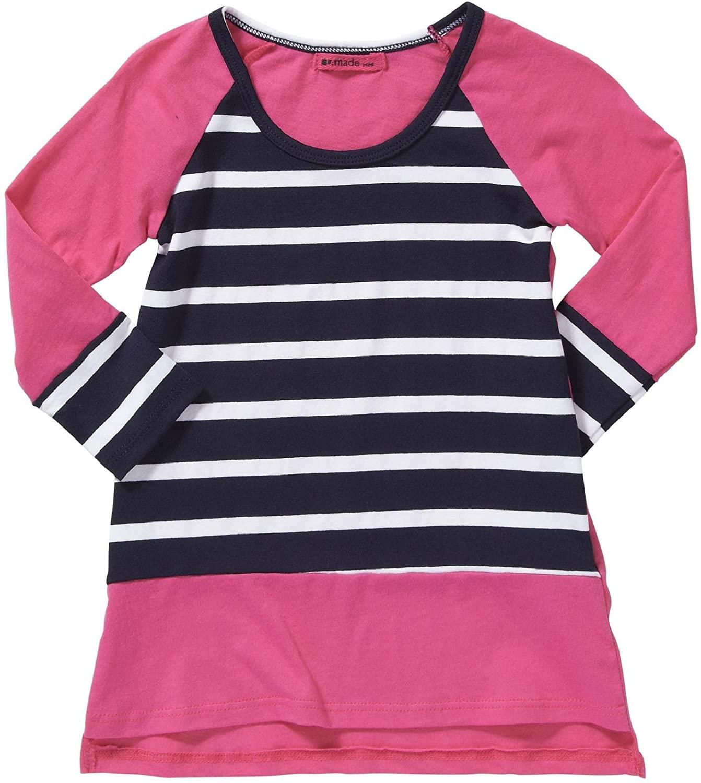 LAmade Kids Baby Girls' Striped Dress (Toddler/Kid) - Capri - 3-6 Months