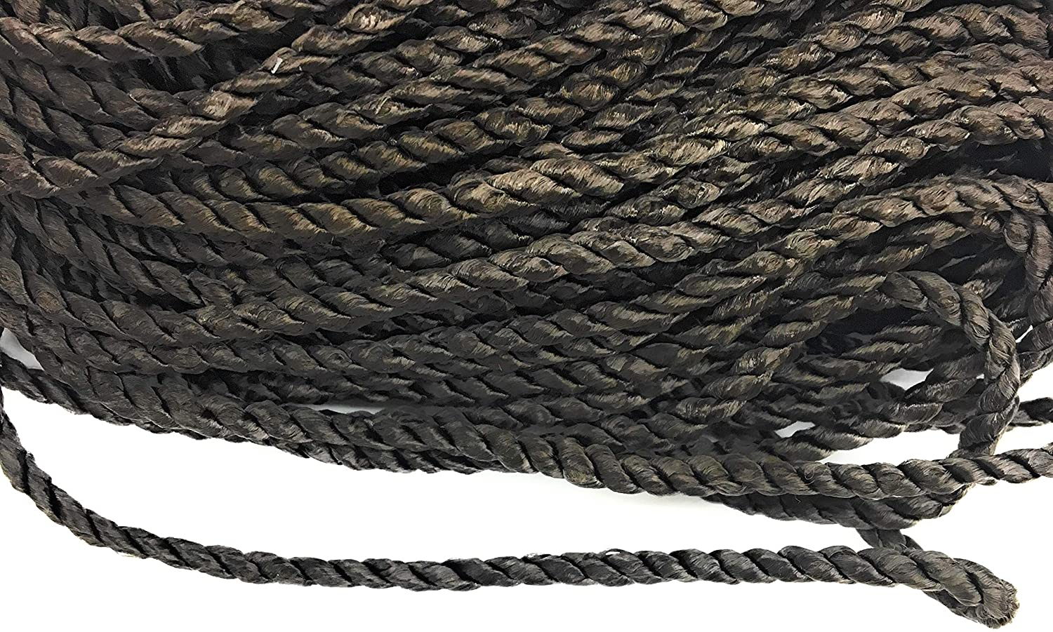 Brown Cord Twisted Trims 1/4