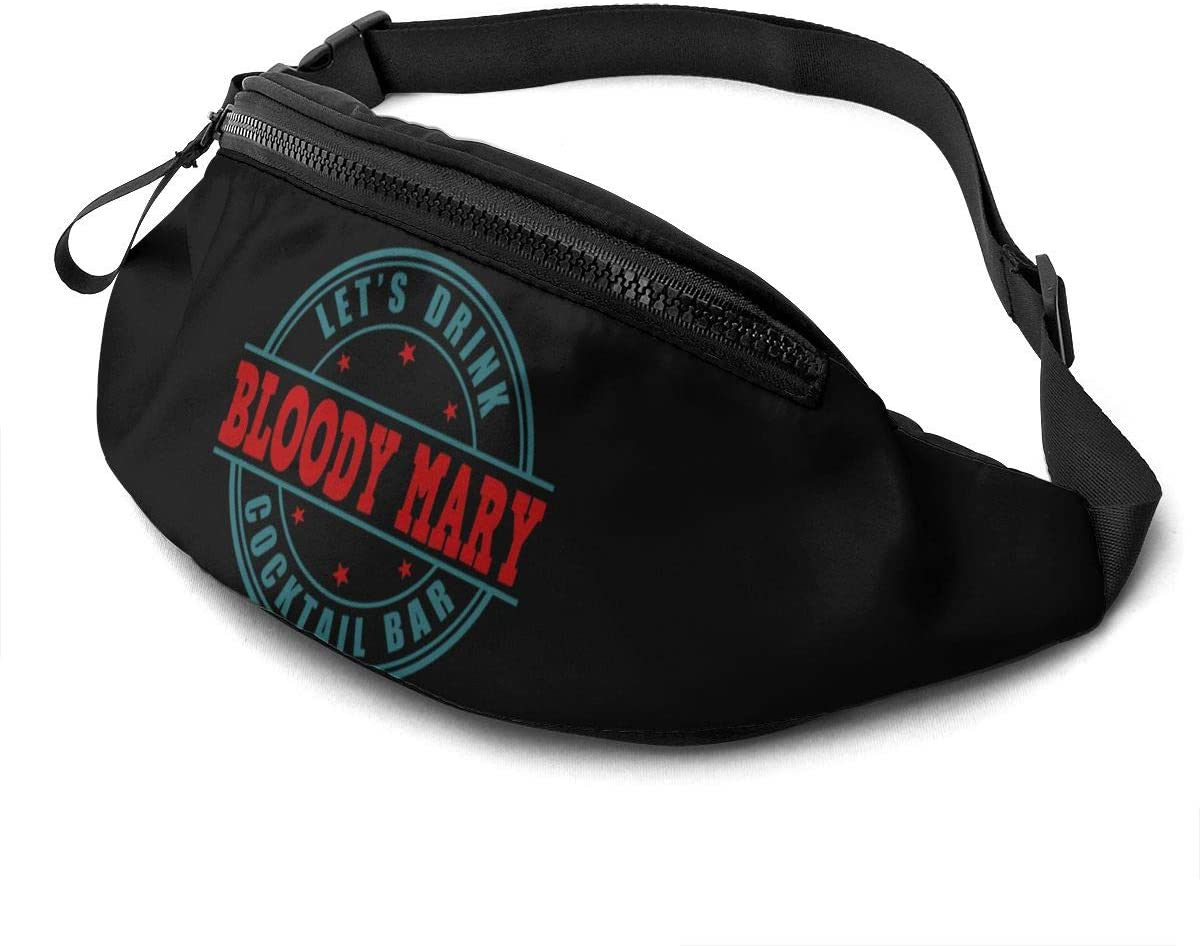 Liuqidong Bloody Mary Breakfast of Champions Waist Pack Bag Fanny Pack for Men&Women Hip Bum Bag with Adjustable Strap for Outdoors Workout Traveling Casual Running Hiking Cycling