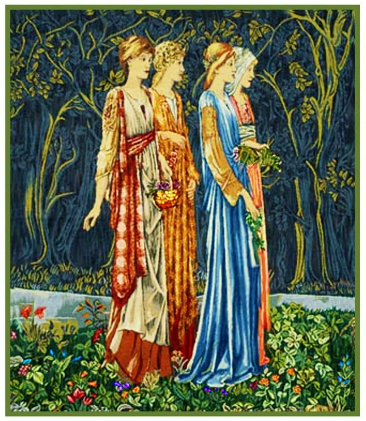Orenco Originals The Muses Detail Ceremony William Morris Counted Cross Stitch Pattern