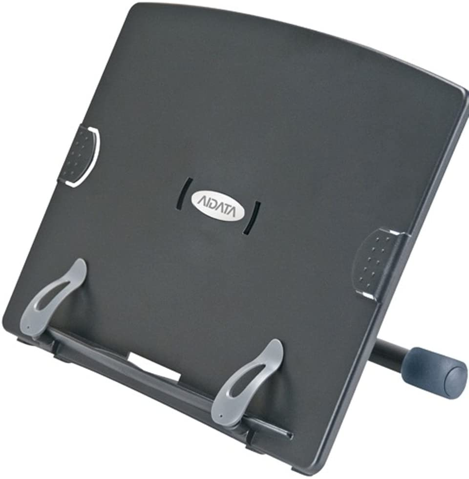 Aidata BH5001B Ergo Book & Copy ViewStand, Black, Easy to detach and assemble, Adjustable angles offer the most comfortable and ergonomic viewing positions for your, Includes built in copy clip