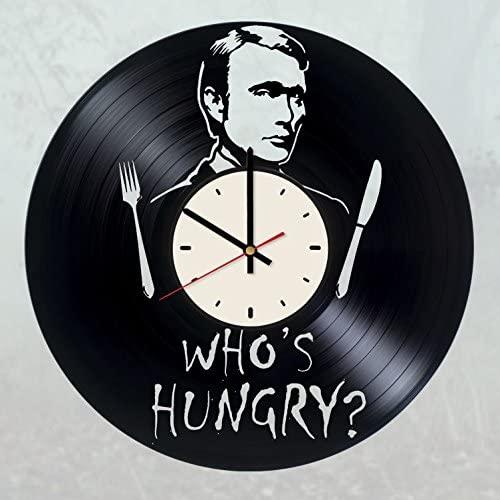 Hannibal Vinyl Wall Clock Hannibal Lecter Unique Gifts Living Room Home Decor