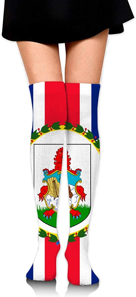 Knee High Socks Flag Of Bermuda Women's Athletic Over Thigh Long Stockings