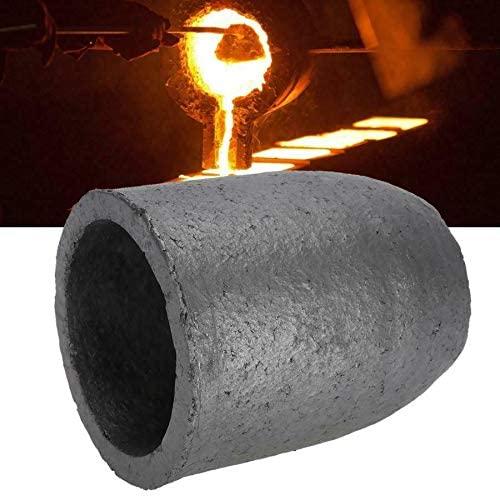 SENRISE Graphite Crucible 200ml Crucible Melting Tool Silicon Carbide Graphite Crucibles Cup for Gold Silver Copper Brass Aluminum Metals (2#A 200ml 80x70x95mm)