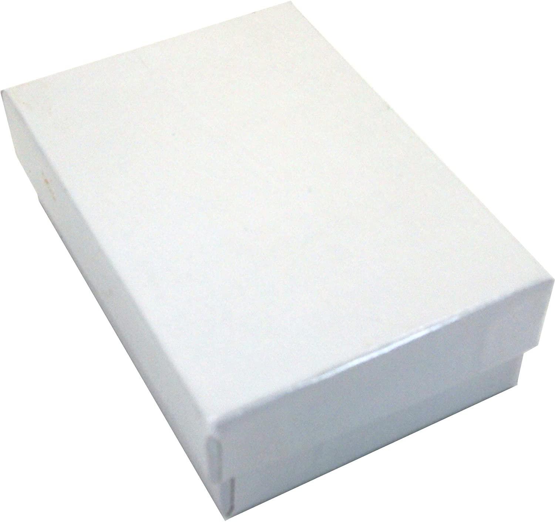 36 Cotton Boxes White Pendant Chain Jewelry Displays