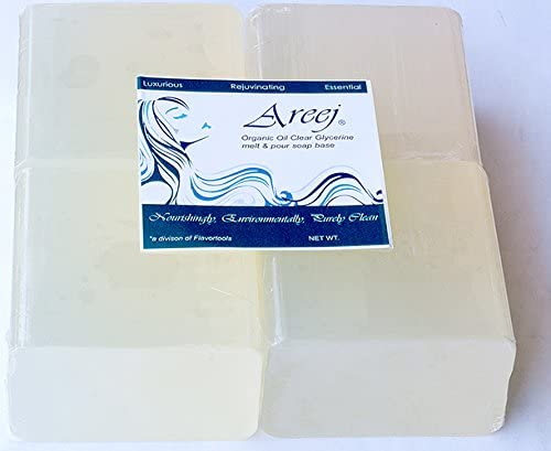 Areej 2 LB Clear Organic Oil Melt and Pour Soap Base