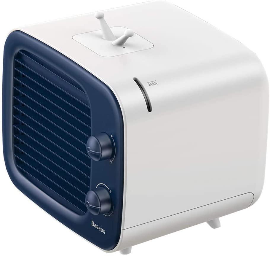 Personal Air Conditioner Fan Portable Air Cooler Blower Noiseless Mini Desktop Humidifier Purifier 3-in-1 Fan for Bedroom Office Travel   3 Gear Speed   USB adapter
