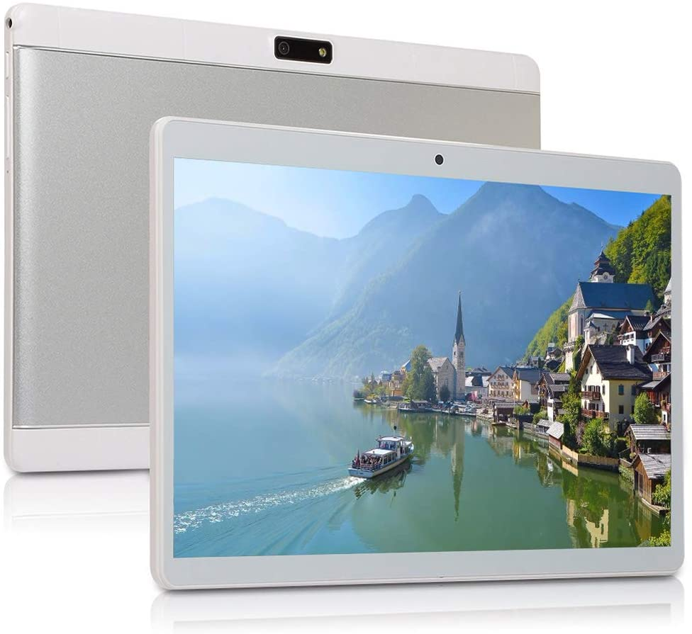 10 inch Android Tablet PC, Octa-Core Processor, 5G-WiFi Google Tablet, 4GB RAM, 64GB ROM, HD Touchscreen Built-in Bluetooth WiFi GPS M5 (Silver)