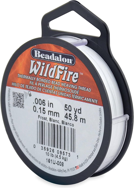 Beadalon Wildfire Stringing Thread .006inX50yd-Frost Fabric