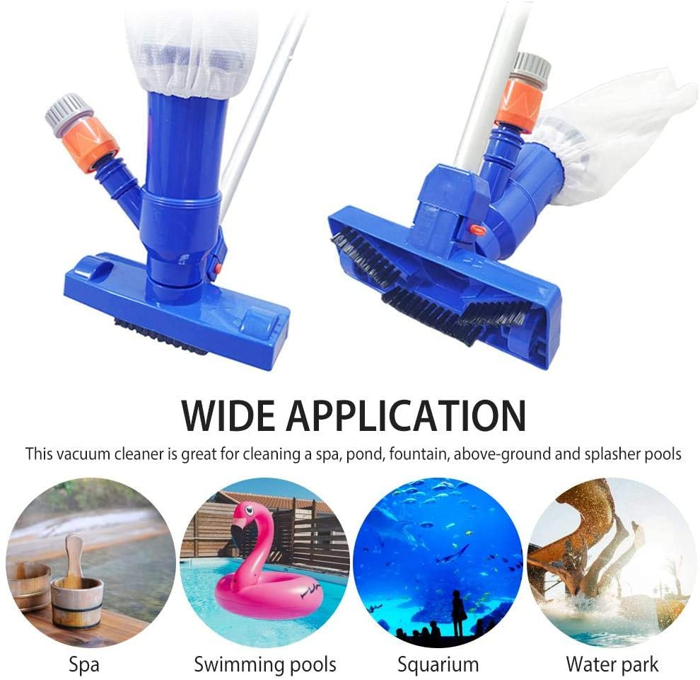 wovemster Pool Vacuum Cleaner, Portable Pool Vacuum Jet Underwater Cleaner, Quick Cleaning Suction Head Leaf Cleaning Tool for Above Ground Pool Spas Ponds & Fountains