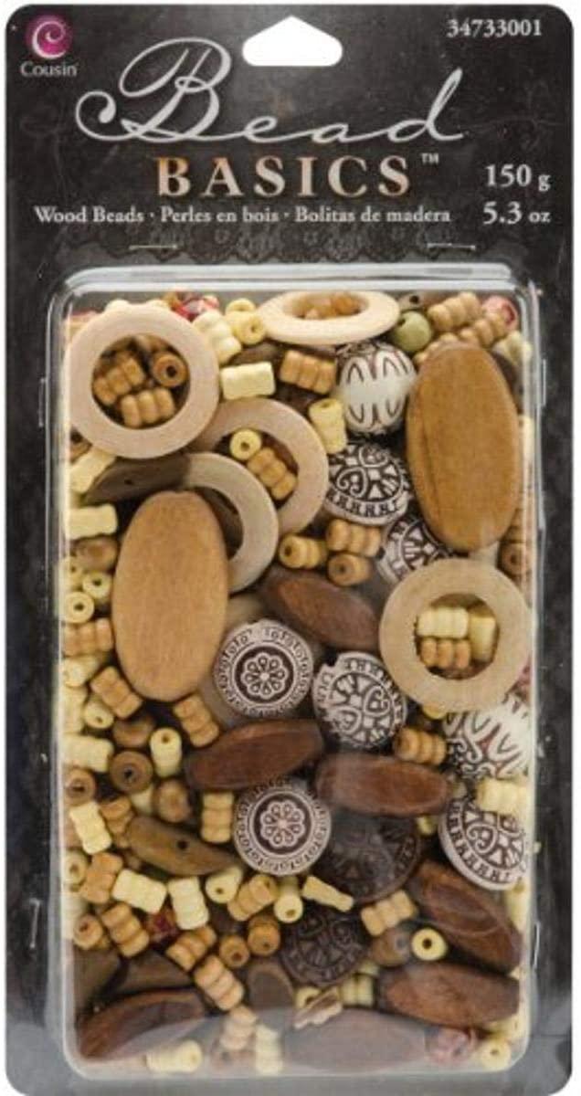 Cousin 34733001 Jewelry Basics 150G/5.3-Ounce Wood, Mix 1