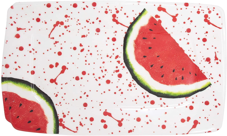 Vietri Melamine Fruit Watermelon Rectangular Platter