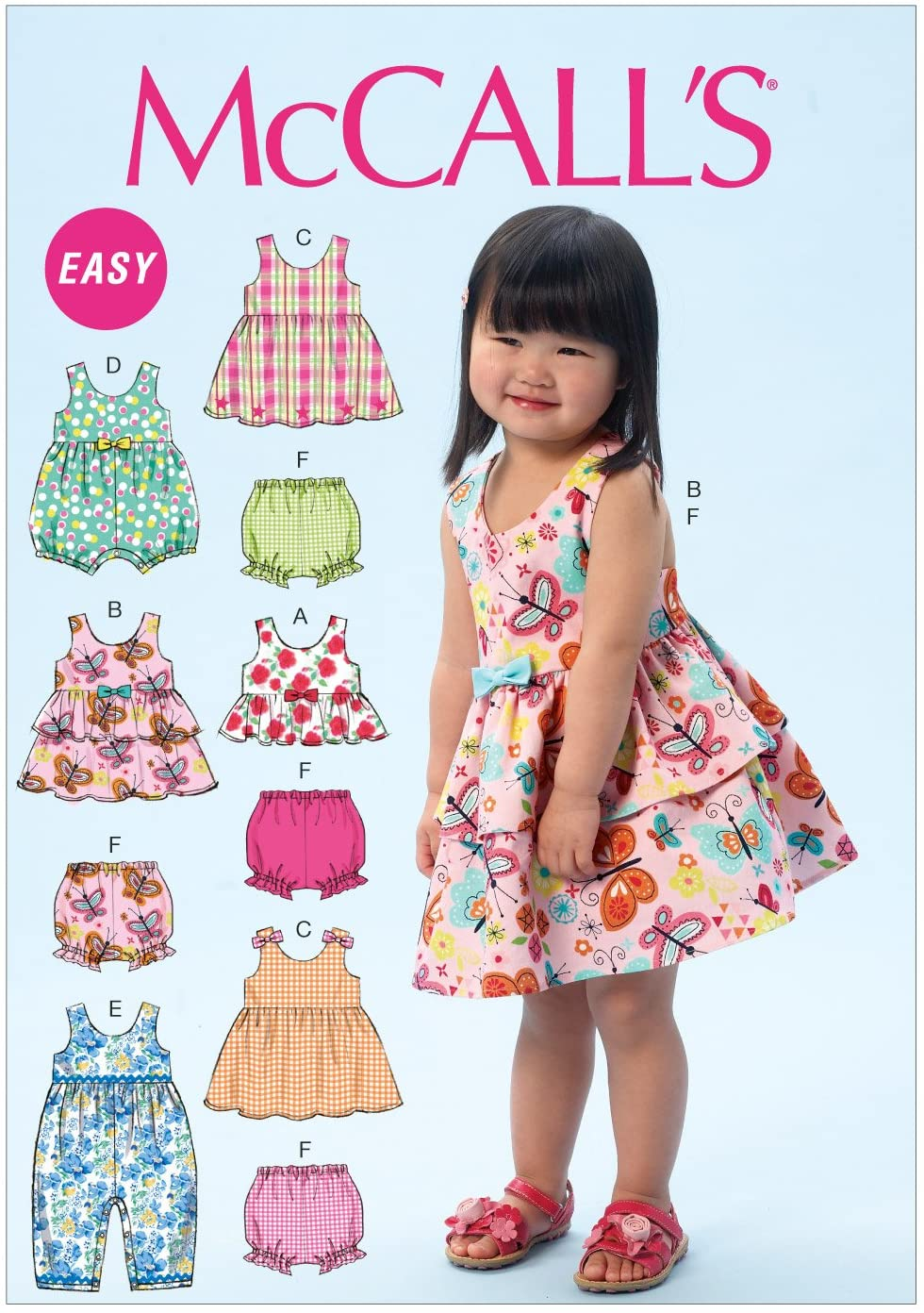 McCall Pattern Company M6944 Toddlers Top, Dresses, Rompers and Panties, Size CAA All Sizes in One Envelope