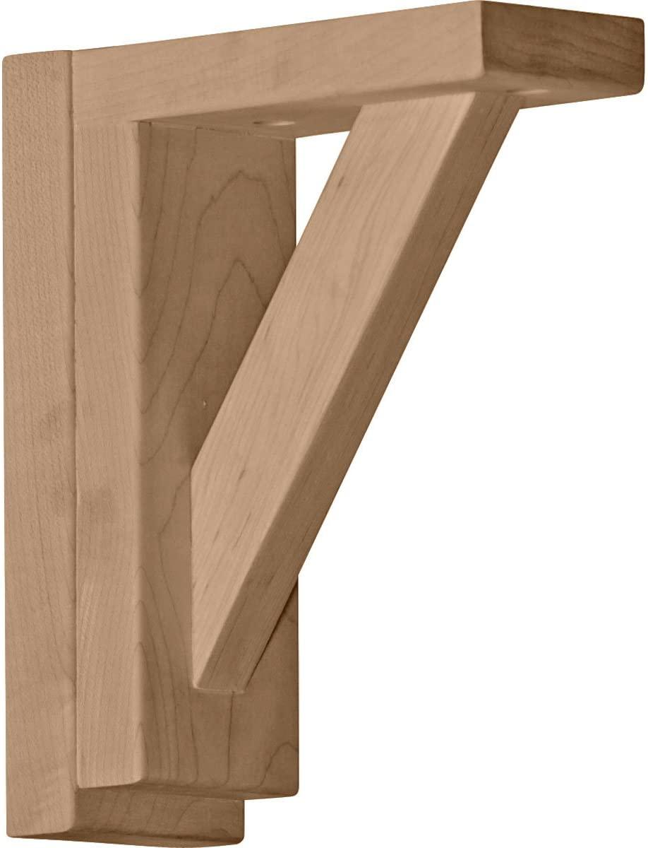 Ekena Millwork BKT02X06X07TRCH-CASE-2 Traditional Shelf Bracket, Cherry - Ready to be Stained