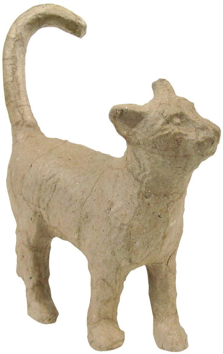"Decopatch Small Papier-Mache Cat Figurine 5"""