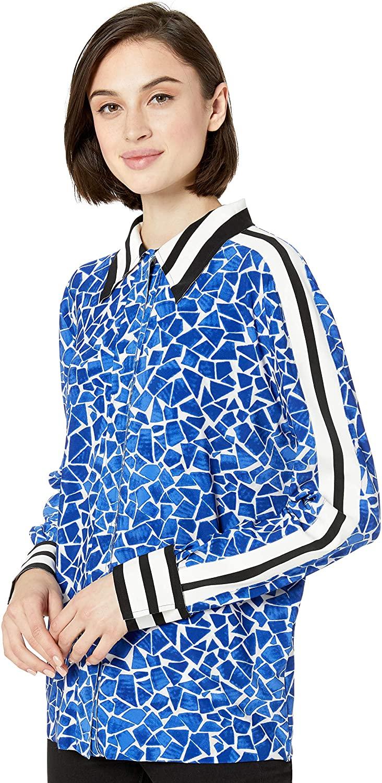 Norma Kamali Women's Side Stripe Nk Shirt