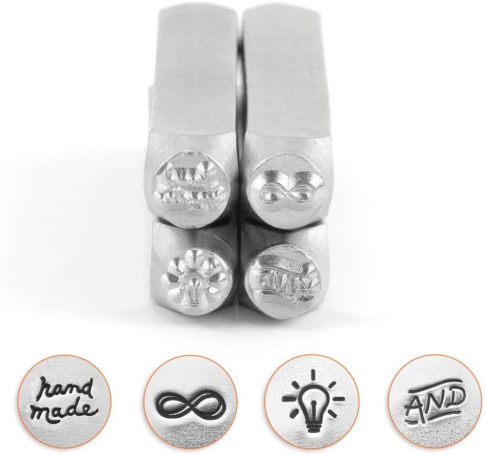 ImpressArt Symbols 4 Piece Jewelry Metal Stamp Design Pack