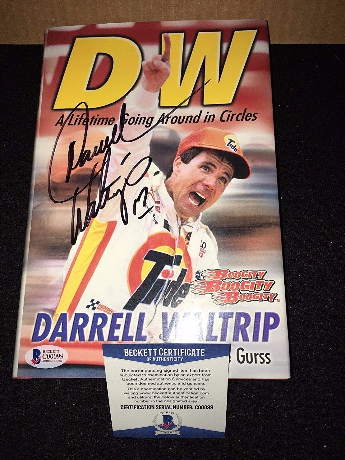 Nascar Darrell Waltrip Signed Lifetime Going Around In Circles Book BECKETT BAS - Autographed NASCAR Miscellaneous Items
