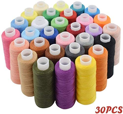 Bilieasy Sewing Thread Set 30 PCS All Purpose Polyester Thread kit Each 250 Yards for Hand or Machine Sewing (30 Color)