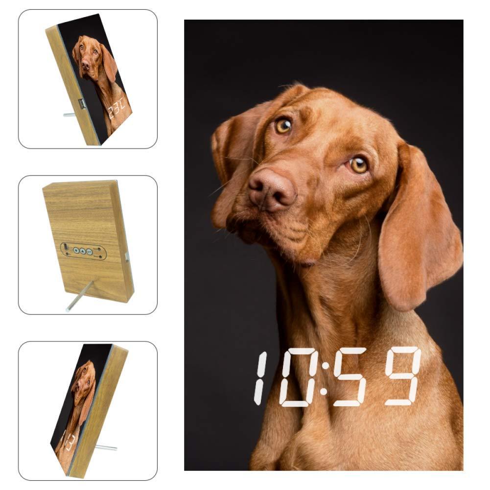 Yellow Dog Wall Clock LED Lighting Clock Home Decor Birthday&Easter Gift for Kids,Design Creative