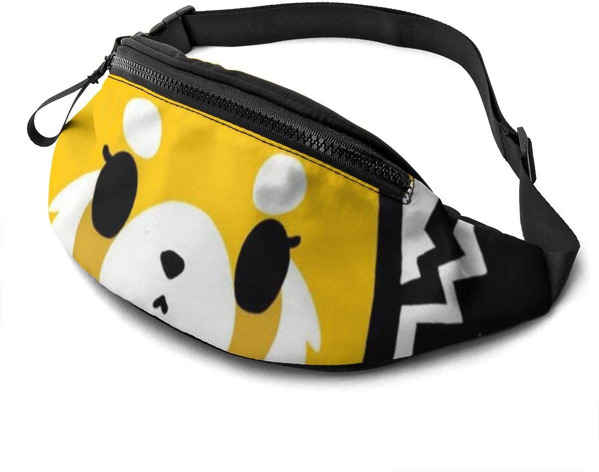 Wehoiweh Aggretsuko Normal Unisex Running Waist Packs Casual Waist Bag, Can Hold Small Objects Such As Mobile Phones