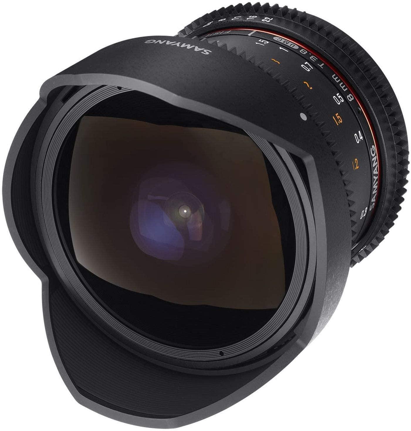 Samyang 8 mm T3.8 VDSLR II Manual Focus Video Lens for Micro Four Thirds Camera