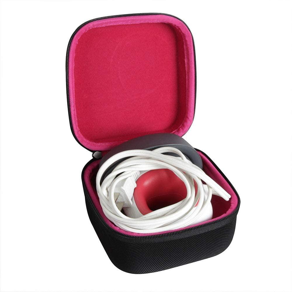 Hermitshell Hard Travel Case for Cricut Easy Press Mini Heat Press Machine (Black+Rosy)