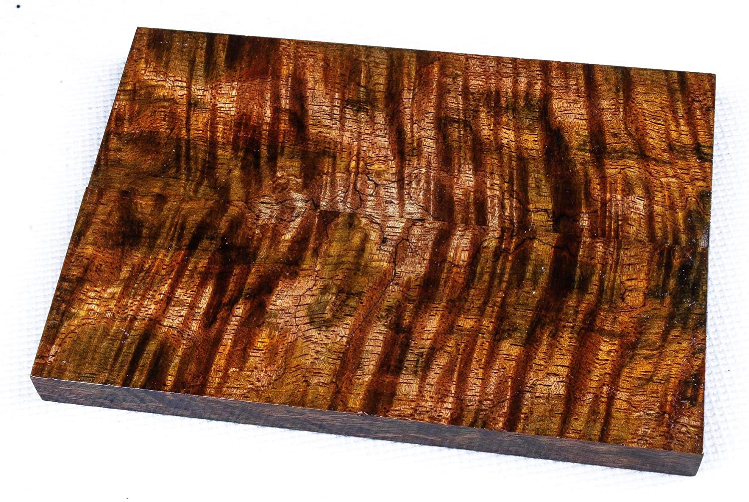 Full Size Stabilized Curly Mango Exotic Wood Knife Scales, Gun Grips SCL9343