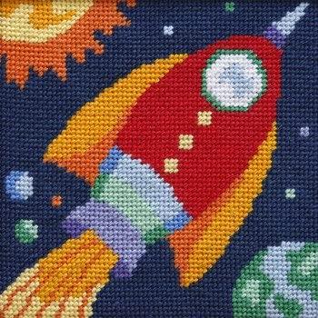 Rocket Ship - Needlepoint Kit