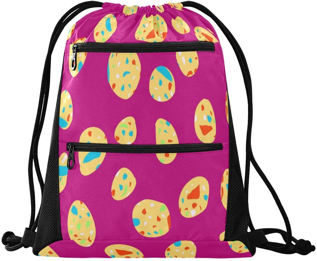 N /A Drawstring Backpack for Women Men Trendy White Tiger Gym Bag Drawstring Backpacks Boys