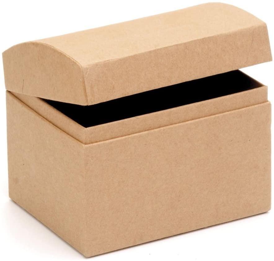 Glorex 62027027Jewellery Cardboard Storage Box–Natural–11.5x 9x 9.5cm