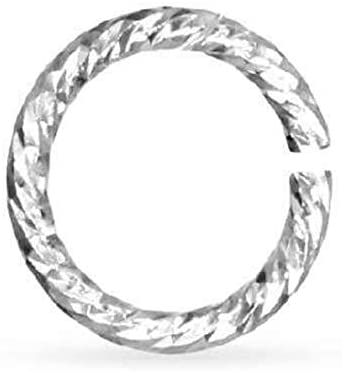 Open Jump Ring Sparkle Sterling Silver 20ga 4mm - 100pcs (11149)/1